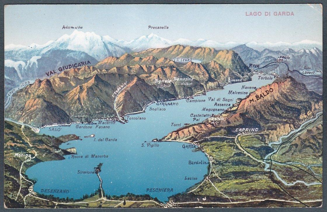 Cartina Fisica Lago Di Garda.Topografia Sintetica Del Lago Di Garda Estensione E Localizzazione