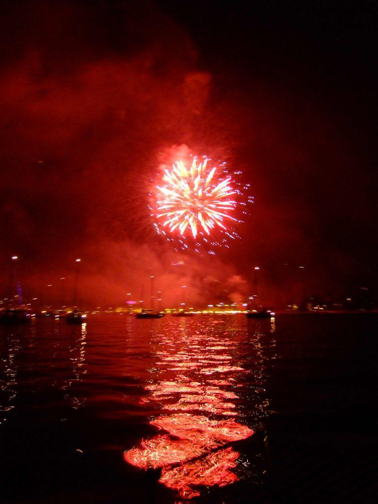 fuochi d'artificio a Riva del Garda