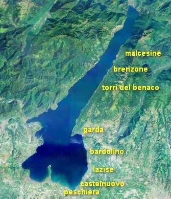 spiagge della costa veronese del lago di garda
