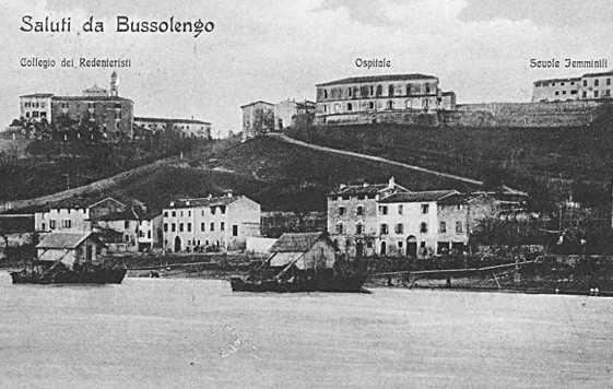 bussolengo ed i mulini sull' adige in una storica cartolina