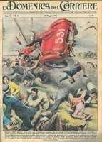guidizzollo l'incidente delle mille miglia in una copertina dela domenica del corriere