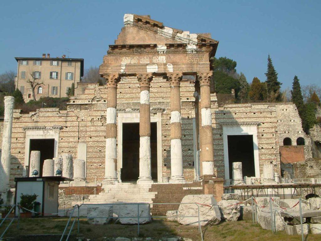 Il  Tempio Capitolino a Brescia nella antica Brixia romana